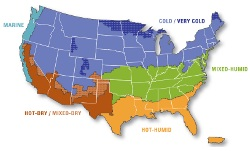 US Climate Zone Map