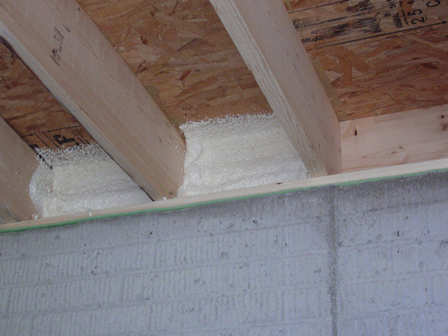 Sealing and insulating rim band joists diy foam for Insulation board vs fiberglass