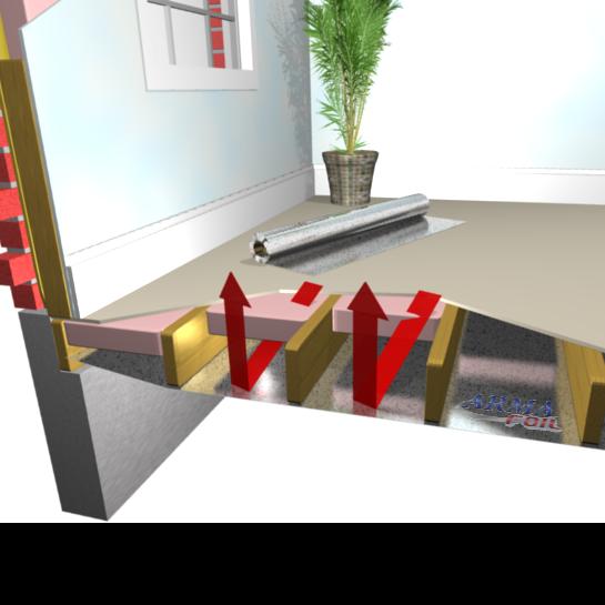 How To Install Radiant Barrier In Floor Radiant Heat Flooring - Sound barrier between floors
